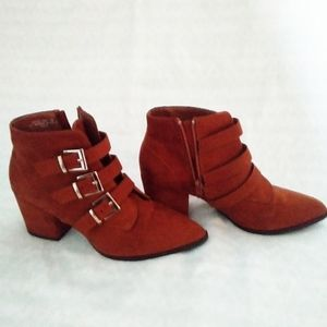 Bamboo Faux suede ankle boots